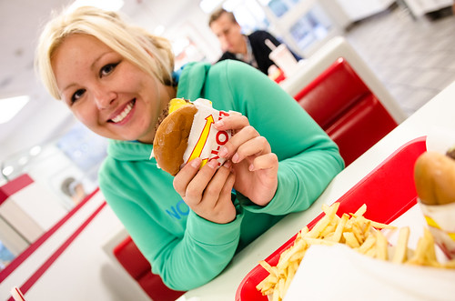 Theresa at the In N Out Burger - Millbrae, CA