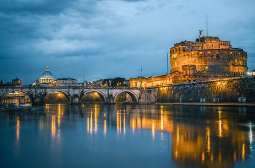 longexposure italy vatican rome roma night river nikon cloudy tiber castelsantangelo d800 2470
