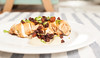 Chicken with egg plant puree