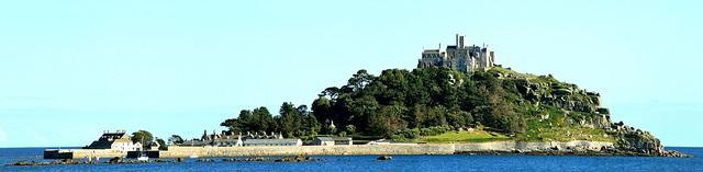 St Michael's Mount Panorama 2. Nikon D3200. DSC_0121-0125