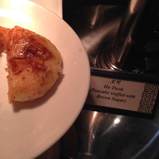 Ho Tteok: Korean Pancake stuffed with Brown Sugar - Olive Tree, InterContinental Singapore