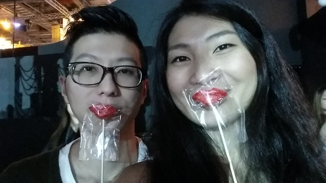 #selfie with our chocolate red lips!