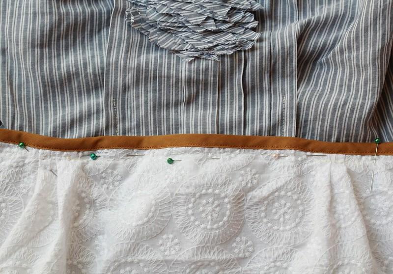 how to make a sheath dress from a blouse via Kristina J blog