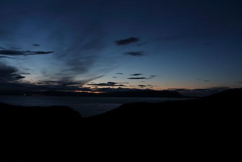 silhouette iceland nightsky ingólfsfjall ölfusá