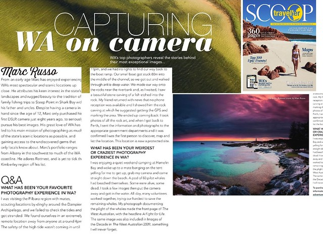 "A little write up on myself ""Top W.A Photographers"" in Scoop traveller Mag ,Aug 2014 edition"