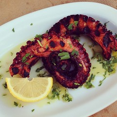 Grilled octopus. NICE. #amonthingreece