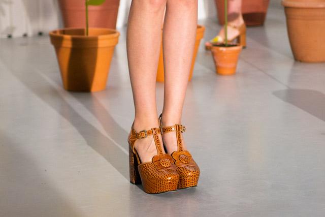 Orla Kiely SS15 Clarks Beryl Shoe Mock Croc leather