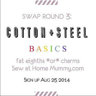 Want to get your hands on the entire line of cotton & steel basics?  Go sign up with @sewathomemummy (link in her profile) to swap charms!  HURRY, sign ups end soon!
