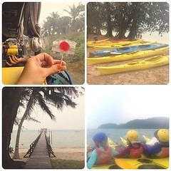 Pretty neat Day 1. Paddled and capsized in a double #kayak. #newadventure #sibu #uwcsea_east