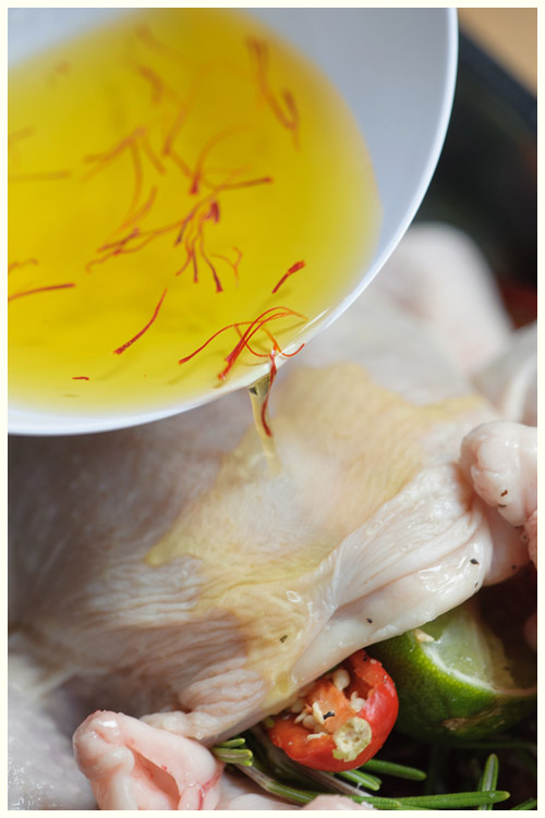 Roast Chicken, Saffron, Lime & Chili