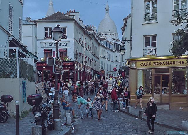 Tombée de la nuit à Montmartre