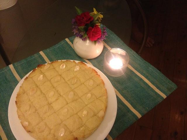 pastel de semolina y coco