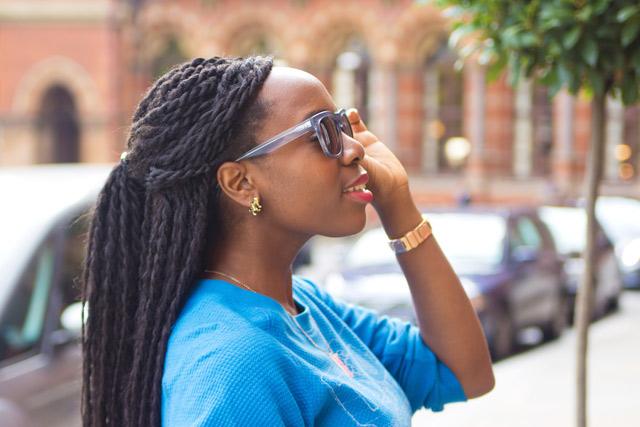 Bailey Nelson sunglasses tiger earrings