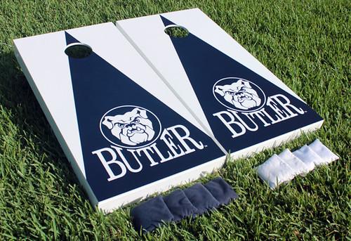 Butler Bulldogs Cornhole Game Set Triangle Wooden Version 1
