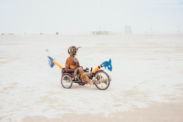 Burning Man 2014 - Biker 5