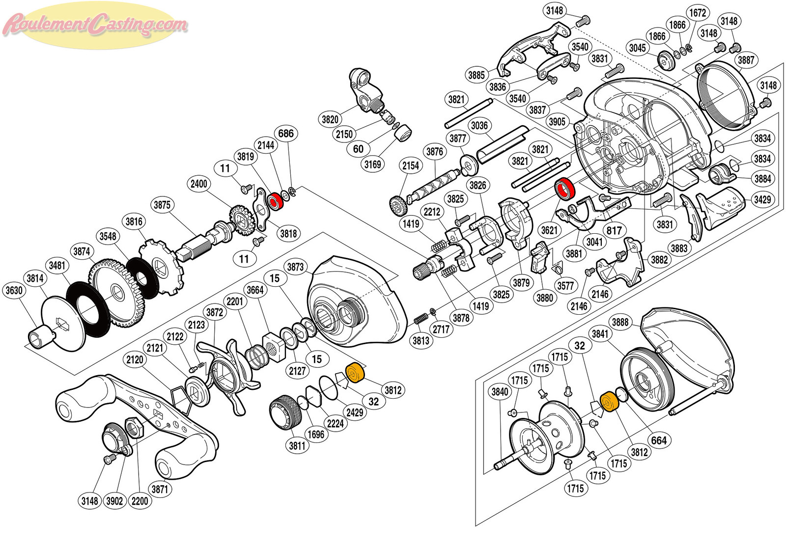Schéma Shimano 08' CORE 101MG