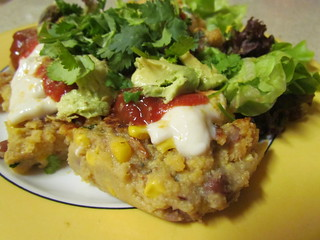 Chipotle Polenta Bake as leftovers
