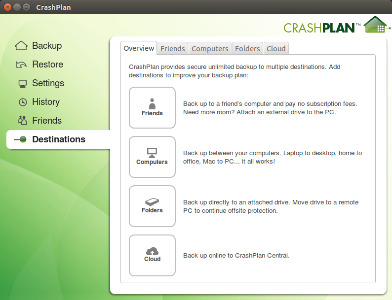 CrashPlan Linux