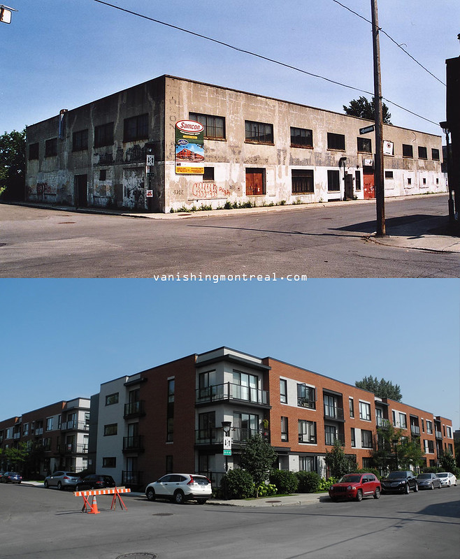 Before and After : corner Ste-Madeleine and Le Ber