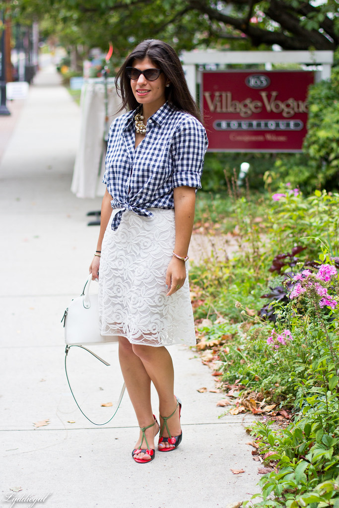 Lace skirt, gingham shirt, cherry pumps-1.jpg
