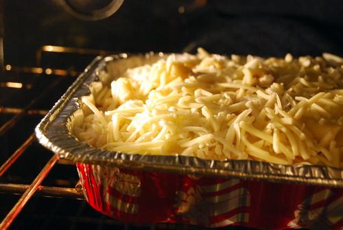 Chicken Ziti Alfredo - in oven