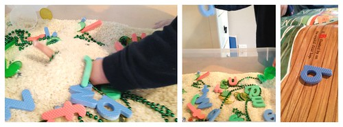 Alphabet Pirate Sensory Bin (Photo from Little Bins for Little Hands)
