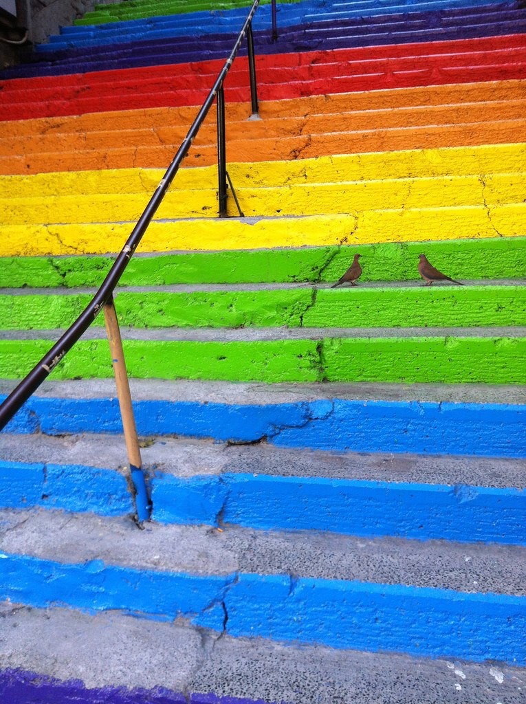 The colored stairs of Istanbul