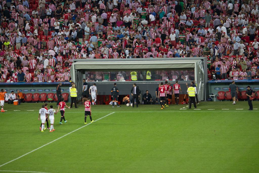 Con el Athletic de Bilbao gracias a @Nissan_ESP #genius #UCL