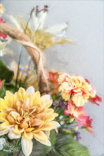 Image of flowers using Topaz Impression plugin