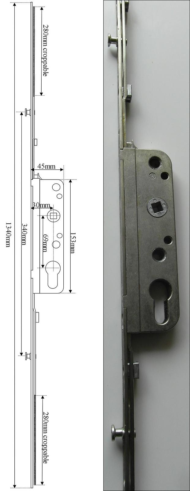 Gu 966 Ffh1621 1870 Gr55 Tilt And Slide Patio Door Lock