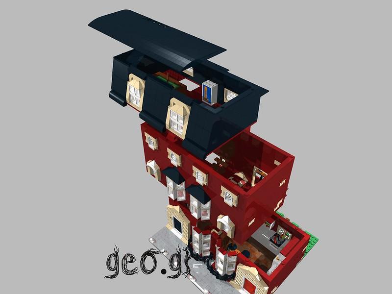 [Digital MOC]:Modular Bloomsbury House 15300563425_58a8862caf_c