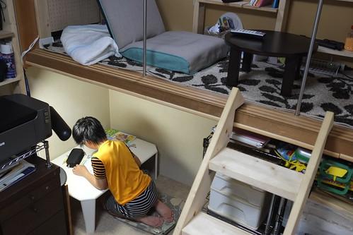 一階部分を自習室に