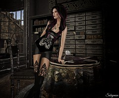 Sabrymoon wearing Nala Design Belinda outfit and Virtual Diva Couture Violet hair