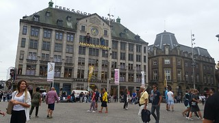 Image of Dam Square near Amsterdam. amsterdam netherlands holland nederland centrum dutch iamsterdam schiphol europe grotemarkt canals westerkerk nationaalmonument nationalmonument dam damsquare royalpalace madametussauds buildings edificios structures estructuras arquitectura architecture historic city urban people continuity travel