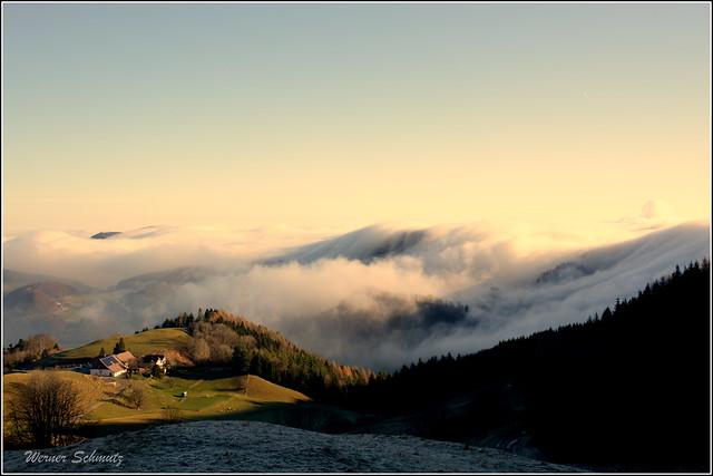 Nebelwelle ber den Jura, Nikon D3200, AF-S DX Nikkor 18-300mm f/3.5-5.6G ED VR