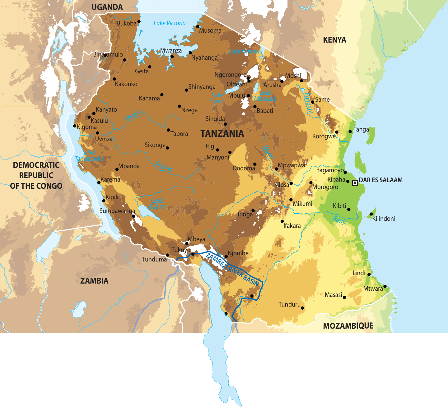 Map of tanzania grid arendal map of tanzania gumiabroncs Image collections