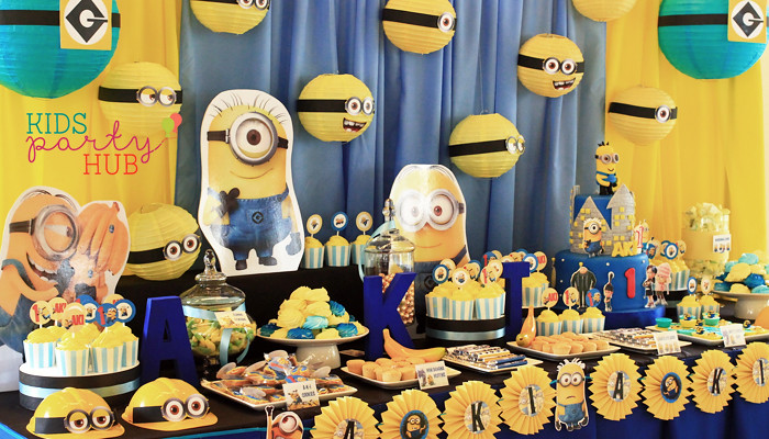 Minions Dessert and Candy Buffet