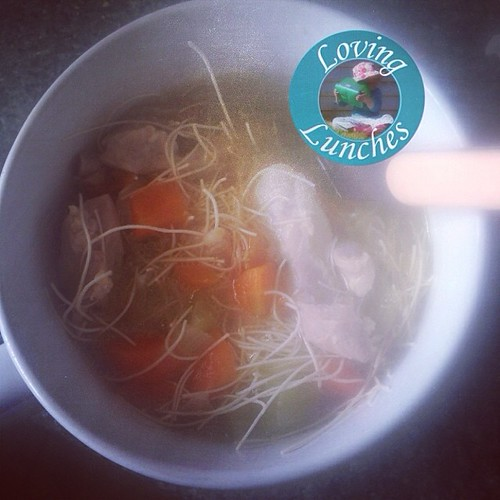 Loving #justwhatthedoctorordered … chicken noodle soup in our @kambrookau #soupsimple  #fluBgone