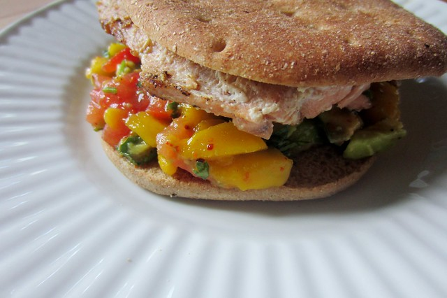 52 sandwiches  no. 34: salmon & mango