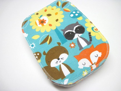 Forest Friends Two Ply Flannel Wipes