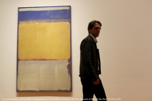 La représentation continue 0927 - Autoportrait avec N. 10 (1950), de Rothko, 1903-1970, Museum of Modern Art, New York City, USA