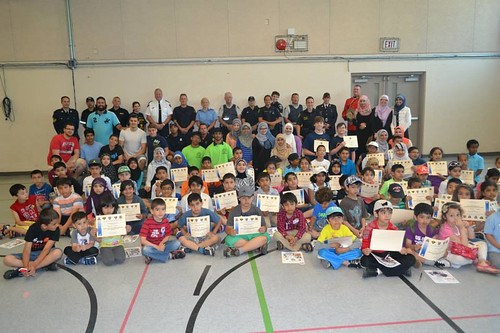 Graduates and Emergency Services personnel at Windsor Islamic Association Fun Day May 31st, 2014