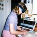 West Germany   -   Vaihingen   -   Patch Barracks   -   Bldg 2401  A6   -   Jessica Chopping Onions   -   May 1986 by Ladycliff