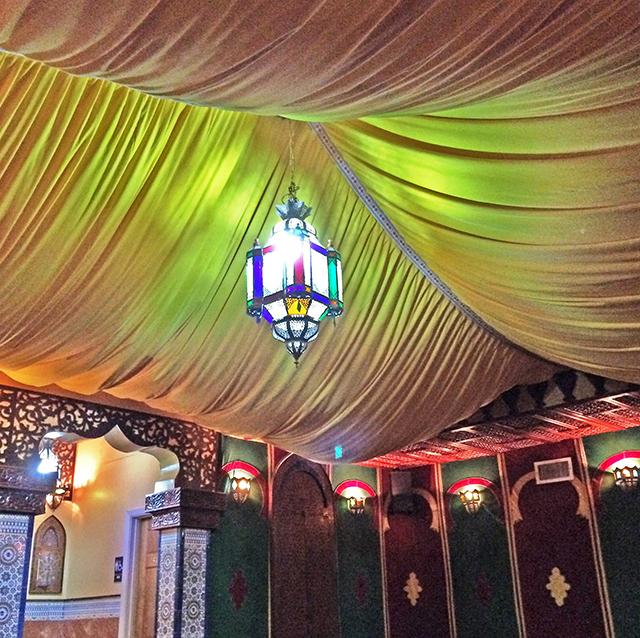 Moroccan restaurant, elaborate decor