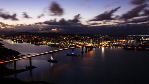 city dawn lights do vitória moreno morro