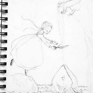 Premiers traits de crayon sur la feuille #stepbystep #sketch #wip #dessin #illustration