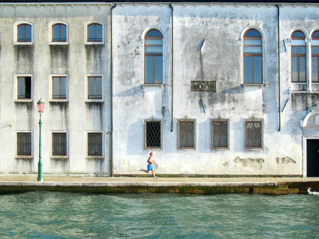 A jogger in Venice