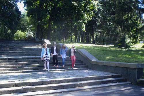 Сходи центрального входу в парк ім.Т.Шевченка. 2014