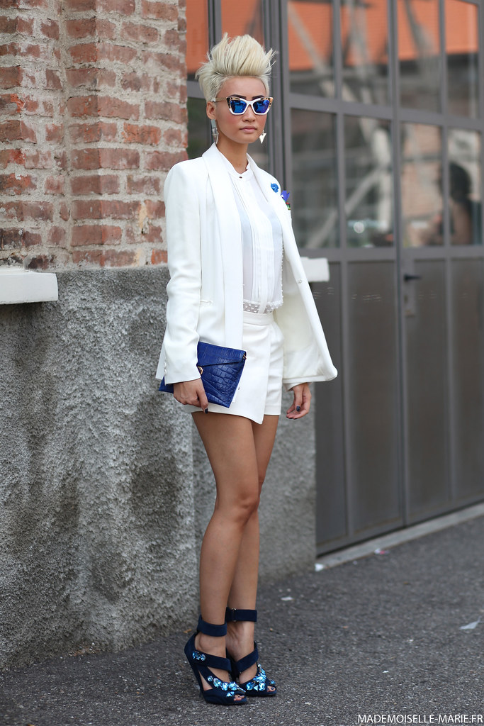Esther Quek at Milan Fashion Week day 4