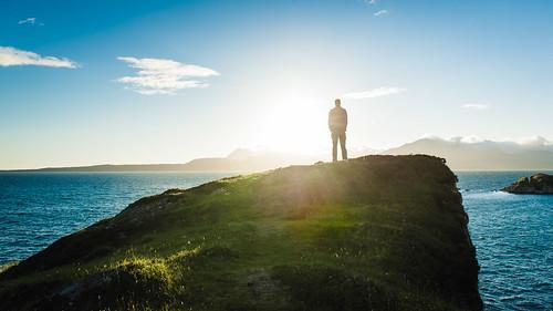 uk sunset sun skye scotland meer sonnenuntergang isleofskye gb cuillins küste gegenlicht schottland greatbritian hebriden geblendet grosbritannien grosbritanien